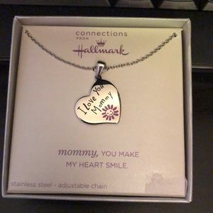 """Hallmark stainless steel """"I love you mommy"""" necklace"""